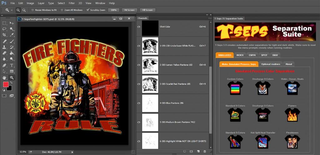 T-Seps 3 5 Separation Suite for Photoshop CC 2014 • Stitch