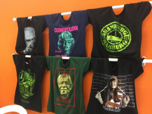 T-shirts printed using LED technology