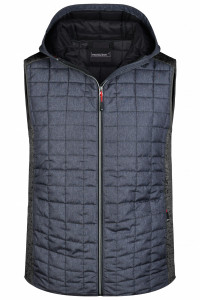 Men's_Knitted Hybrid Vest_grey-melange